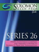 The Solomon Exam Prep Guide to the Series 26 Finra Investment Company and Variable Contracts Products Principal Qualification Examination