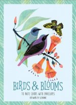 Birds + Blooms Artwork by Geninne: 10 Note Cards and Envelopes
