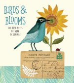 Birds + Blooms Desk Notes Artwork by Geninne: Contains 180 Sheets