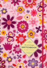Sketchbook: Pink Flowers: 128-Page Unlined Pages