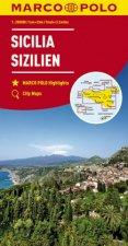 MARCO POLO Karte Sizilien 1:200 000. Sicile / Sicilia / Sicily