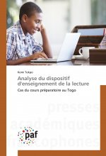 Analyse du dispositif d'enseignement de la lecture