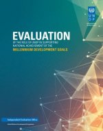 Evaluation of the Role of Undp in Supporting National Achievement of the Millennium Development Goals