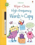 WIPE CLEAN HIGH FREQUENCY WORDS TO COPY