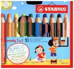 STABILO woody 3 in 1 10er Etui