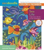 ZENDOODLE COLOR-BY-NUMBER SEA