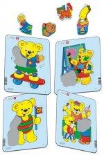 Puzzle MINI - Medvídek TEDDY/5 dílků (4 druhy)