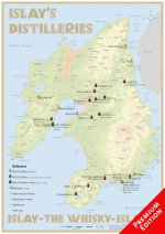 Whisky Distilleries Islay - Poster 42x60cm - Premium Edition
