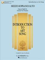 Introduction to Art Song for Mezzo-soprano/Alto