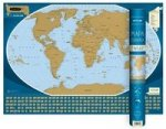 Swiat mapa zdrapka 1:50 000 000