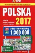 Polska 2017 Atlas samochodowy 1:300 000