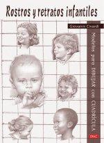 Rostros y retratos infantiles: Modelos para dibujar con cuadrícula
