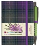 Waverley S.T. (S): Heather Mini with Pen Pocket Genuine Tartan Cloth Commonplace Notebook