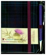 Waverley S.T. (S): Thistle Mini with Pen Pocket Genuine Tartan Cloth Commonplace Notebook