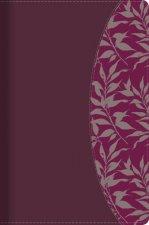 Rvr 1960 Biblia de Estudio Para Mujeres, Vino Tinto/Fucsia Símil Piel Con Índice