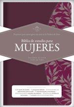 Rvr 1960 Biblia de Estudio Para Mujeres, Vino Tinto/Fucsia Símil Piel