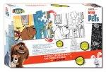 Vybarvovací puzzle - Tajný život mazlíčků