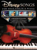 DISNEY SONGS FOR SOLO VIOLIN &