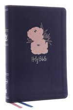 NKJV, Thinline Bible, Large Print, Leathersoft, Blue/Pink, Red Letter, Comfort Print