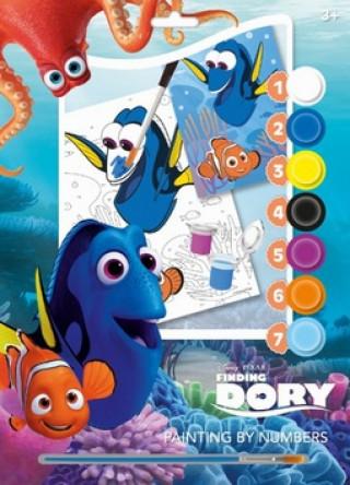 Malování podle čísel A4 Hledá se Dory