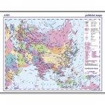 Asie příruční politická mapa