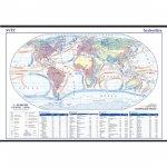 Svět - hydrosféra - školní nástěnná mapa 1:28 mil./136x96 cm