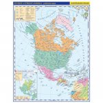 Severní a Střední Amerika příruční politická mapa