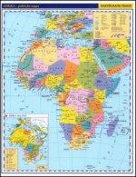 Afrika příruční politická mapa