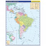 Jižní Amerika - příruční politická mapa,  A3/1: 33 mil.