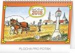 Kalendář stolní 2018 - Josef Lada – Na poli, 23,1 x 14,5 cm