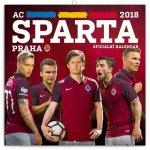 Kalendář poznámkový 2018 - AC Sparta Praha, 30 x 30 cm