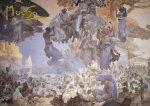 Pohled Alfons Mucha  – Slavnost Svantovítova, krátký (Slovanská epopej)