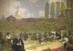 Pohled Alfons Mucha – Bratrská škola v Ivančicích, krátký (Slovanská epopej)