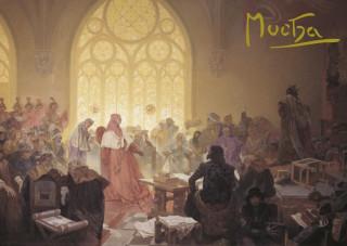 Pohled Alfons Mucha  – Jiří z Poděbrad, krátký (Slovanská epopej)