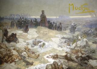 Pohled Alfons Mucha  – Bitva grunwaldská, krátký (Slovanská epopej)
