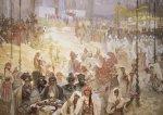 Pohled Alfons Mucha  – Korunovace srbského krále, krátký (Slovanská epopej)