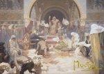 Pohled Alfons Mucha  – Car Simeon Bulharský, krátký (Slovanská epopej)