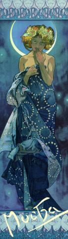 Záložka Alfons Mucha Luna