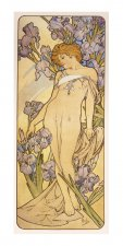Pohled Alfons Mucha – Iris, dlouhý