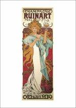Pohled Alfons Mucha – Champagne Ruinart pohled, krátký