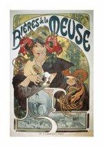 Pohled Alfons Mucha – Bieres, krátký
