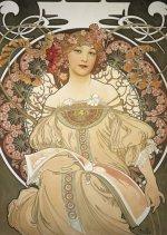 Pohled Alfons Mucha – Reverie, krátký