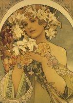 Pohled Alfons Mucha – Flower, krátký