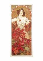 Pohled Alfons Mucha – Ruby, krátký