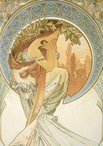 Pohled Alfons Mucha – Poetry, krátký