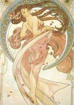 Pohled Alfons Mucha – Dance, krátký