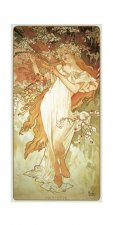 Pohled Alfons Mucha – Spring, dlouhý