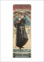Pohled Alfons Mucha – Hamlet, krátký