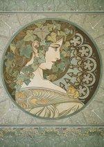 Pohled Alfons Mucha – Ivy, krátký