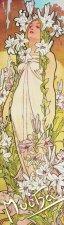 Záložka Alfons Mucha Lilie
